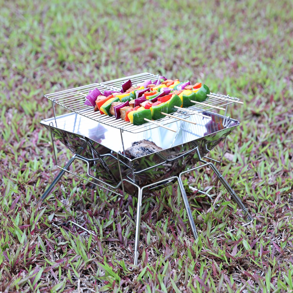 MAGICOOK Portable Mini Barbecue Grill Stainless Steel Set