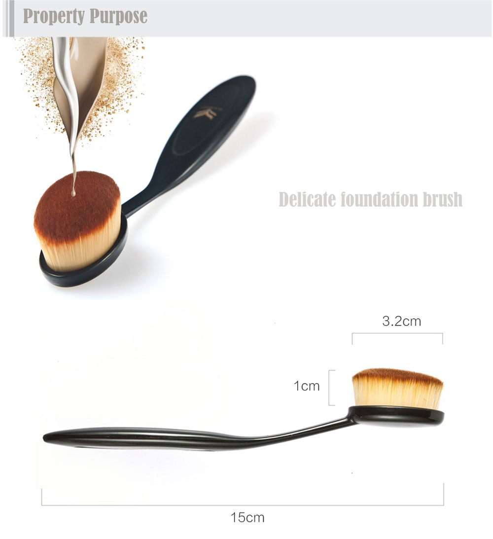4pcs Huamianli + 3pcs MELOISION Powder Foundation Makeup Brush