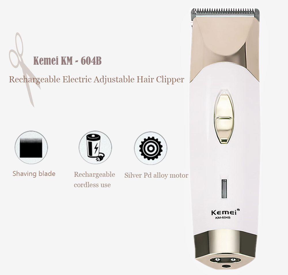 Kemei KM - 604B Professional Dry Dual-use Electric Shaver Barber Fader