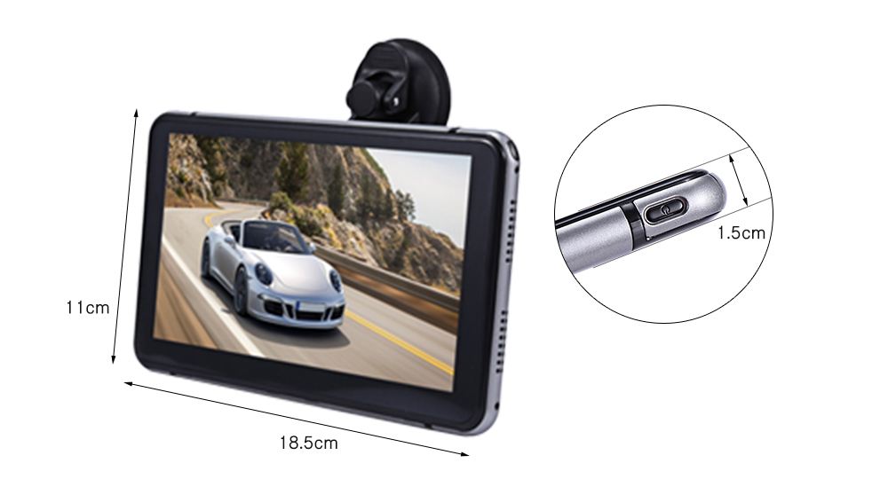 7 inch Vehicle Android DVR TFT Touch Screen WiFi HD 1080P Automobile Data Recorder with GPS Navigation