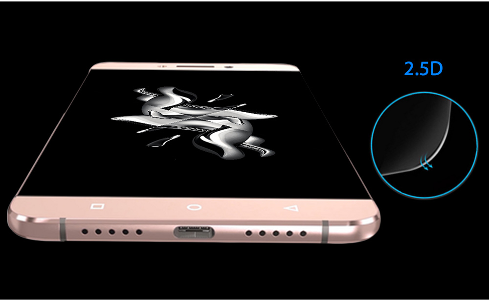 2.5D 9H Tempered Glass Explosion-proof Curved Edge Transparent Protective Film for Letv 2 / 2 Pro 0.2mm