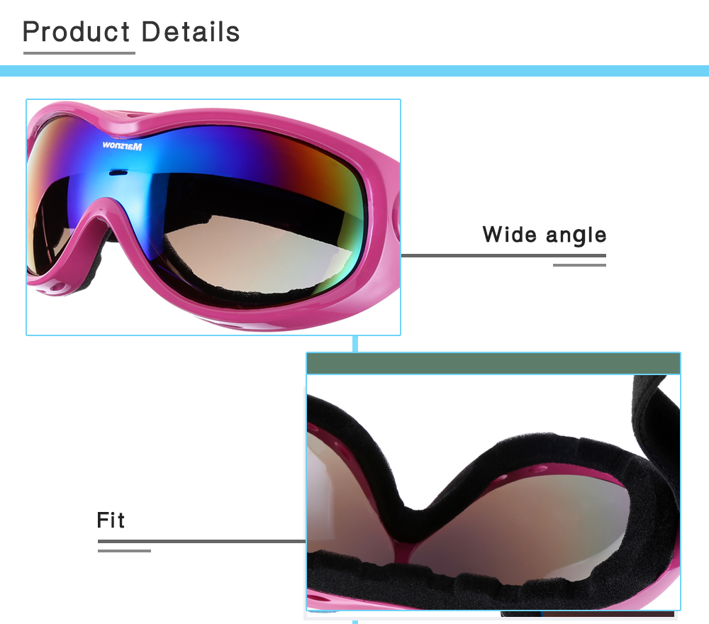 Marsnow 038 Unisex Spherical Anti-fog Single Lens Mountaineering Skiing Goggles