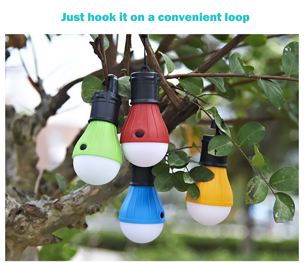 Outdoor Hanging LED Camping Lamp Tent Night Light Bulb