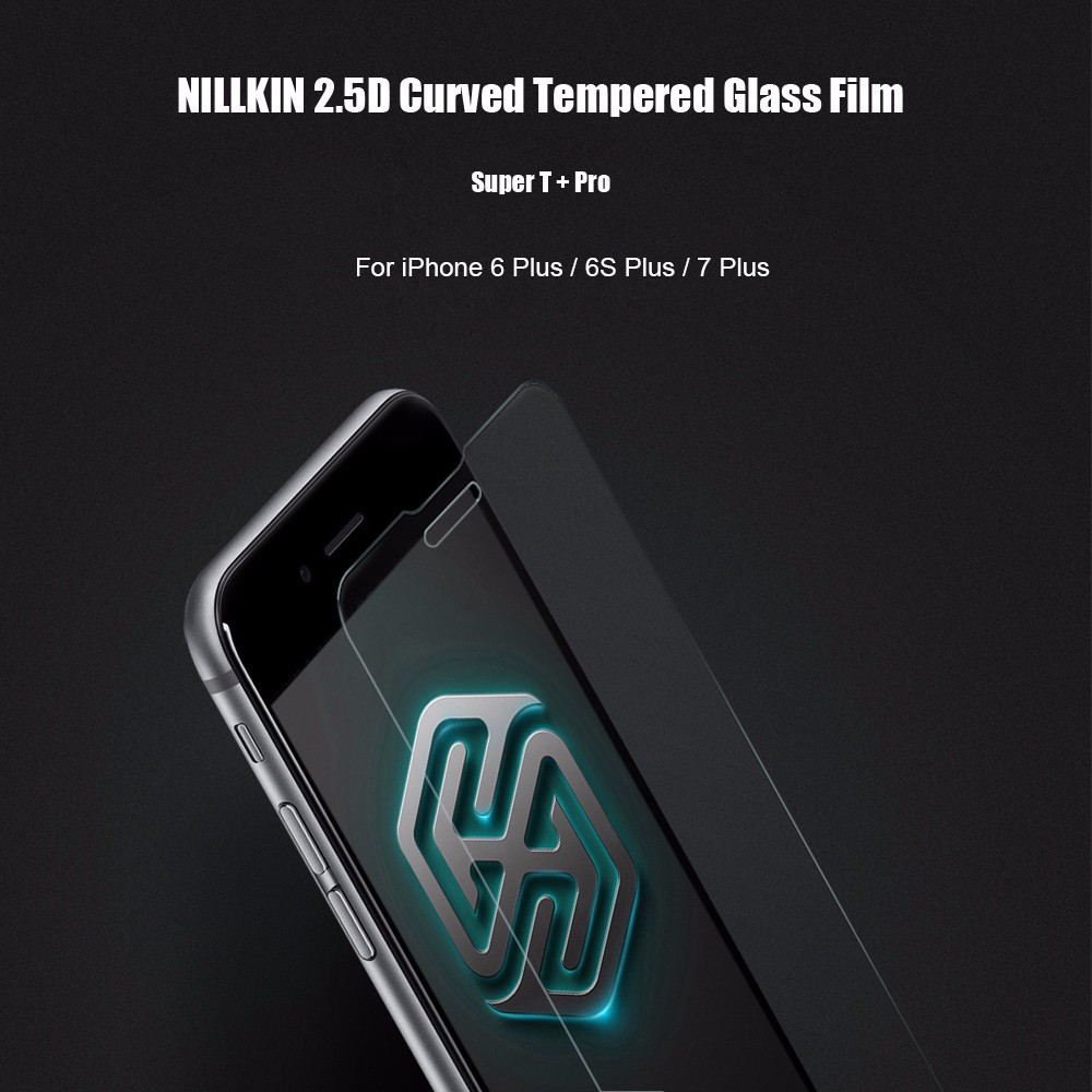 NILLKIN Super T+ Pro 2.5D Curved Tempered Glass Shatterproof Non Full Screen Protective Film for iPhone 6 Plus / 6S Plus / 7 Plus  0.15mm