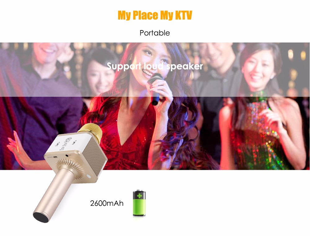 XMOVE A9 Portable Wireless Bluetooth Dynamic Microphone Speaker