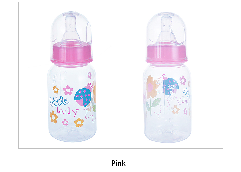 125ml Standard Caliber Straight Body PP Baby Bottles