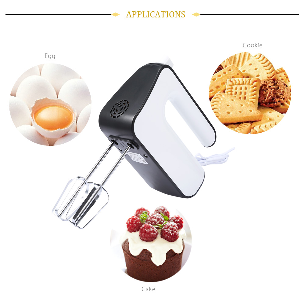 Electric Hand Mixer Whisk with Beater Dough Hook Baking Tool