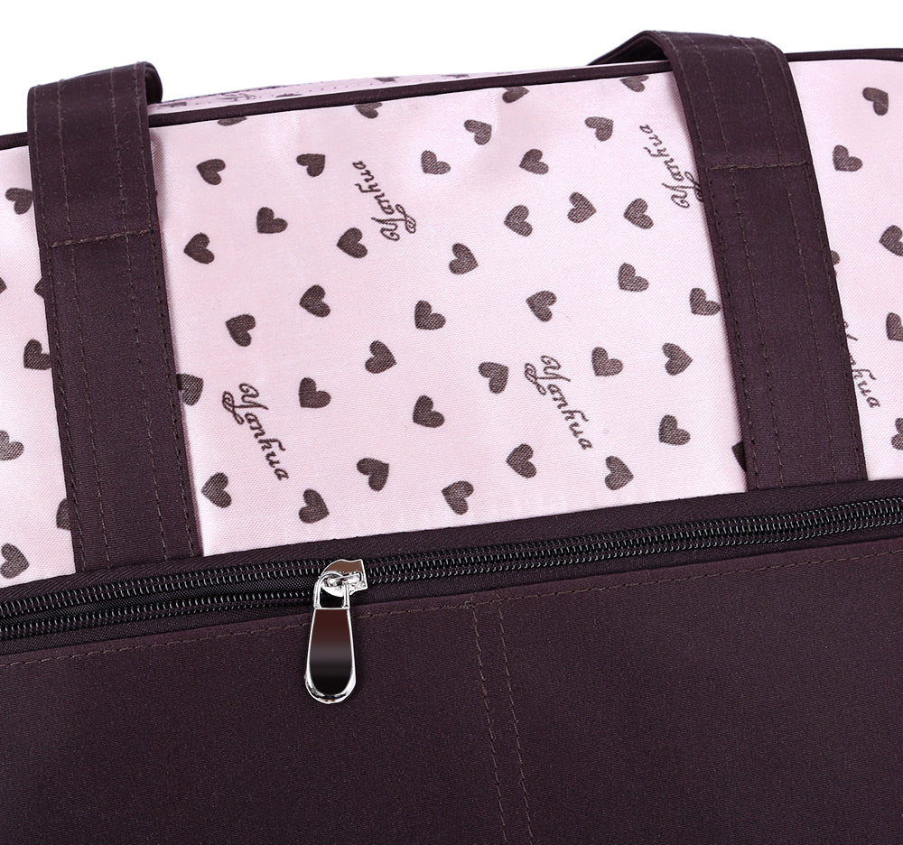 Multifunctional Waterproof Heart Printed Baby Diaper Bag Mummy Handbag