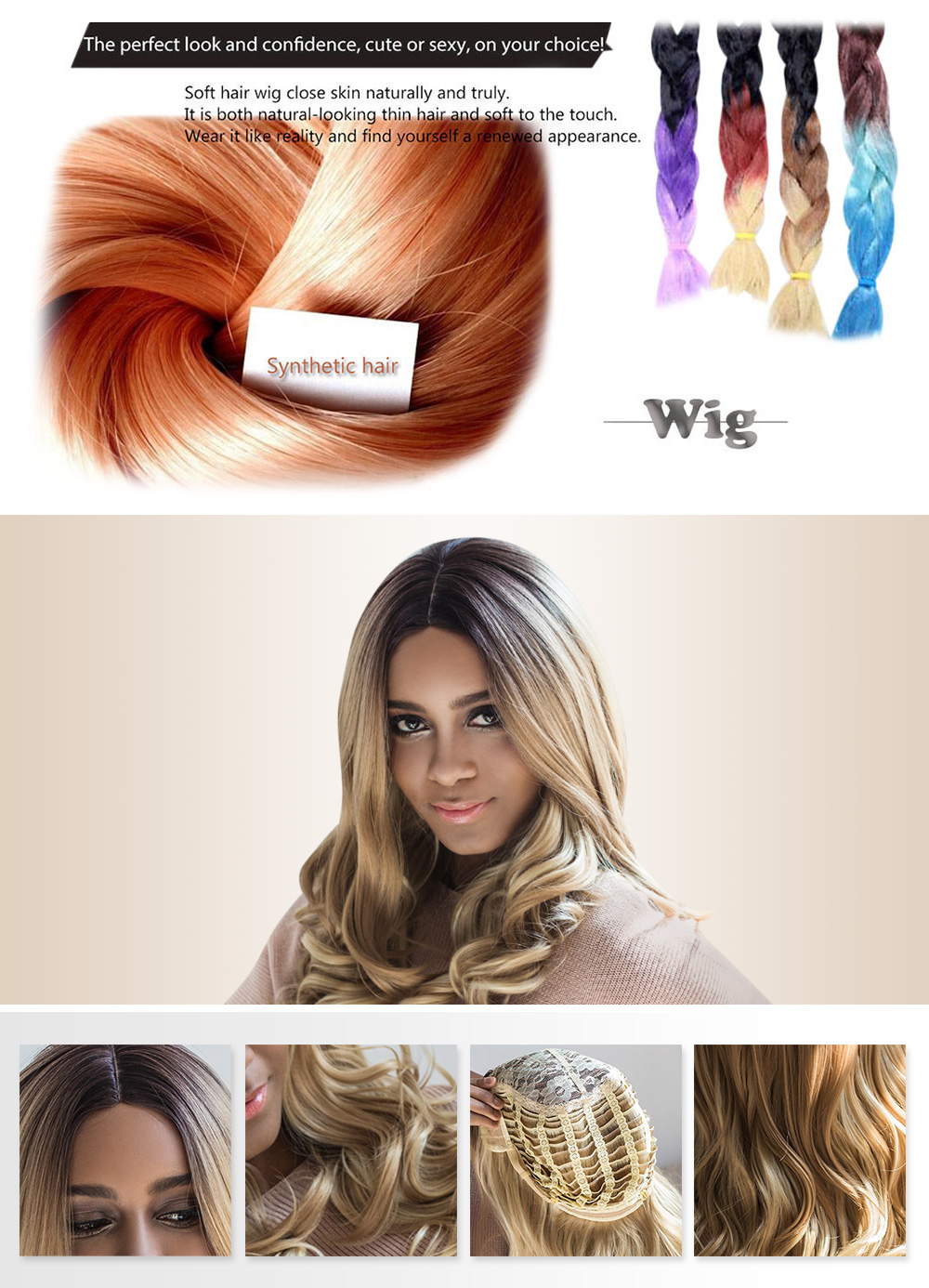 AISIHAIR Long Shaggy Centre Parting Mixed Colors Wavy Synthetic Wig for Women