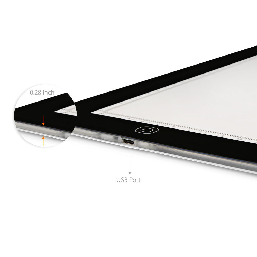 Inlife RH - A4S USB Powered Light Tracing Pad Box for Drawing Sketching