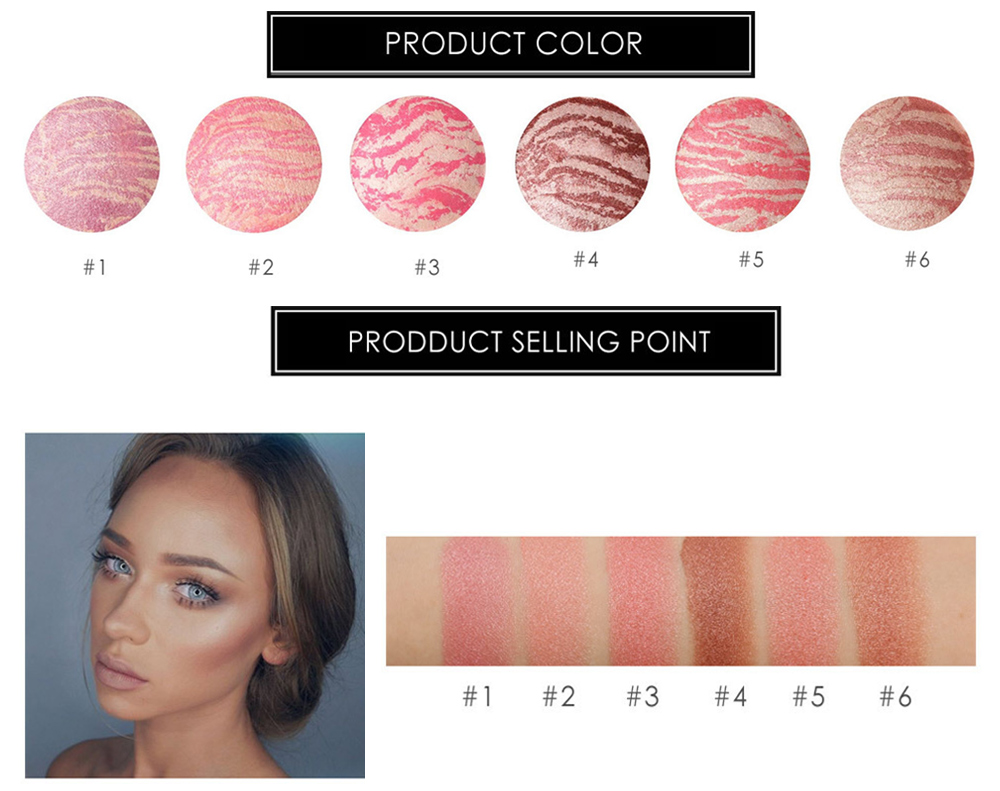 FOCALLURE Professional Face Makeup Baked Palette Cheek Color Blusher