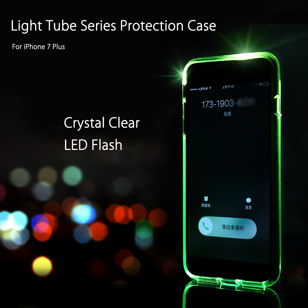 ROCK Light Tube Series LED Flash Protection Case for iPhone 7 Plus