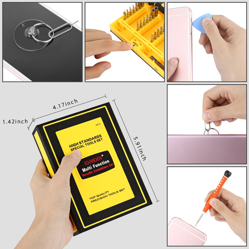 iGARDEN 38 in 1 Precision Screwdriver Set Repair Tool Kit Magnetic Driverfor iPhone iPad Macbook Computer Laptops Cell Phone Watches Camera