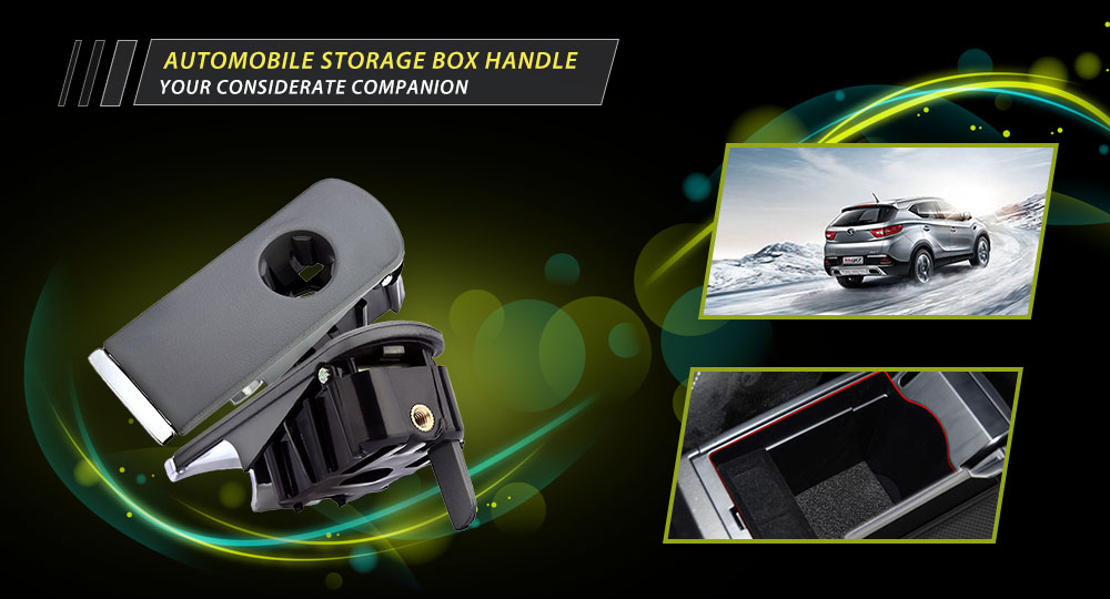 Automobile Storage Box Handle Round Hole Durable Plastic Material for Audi