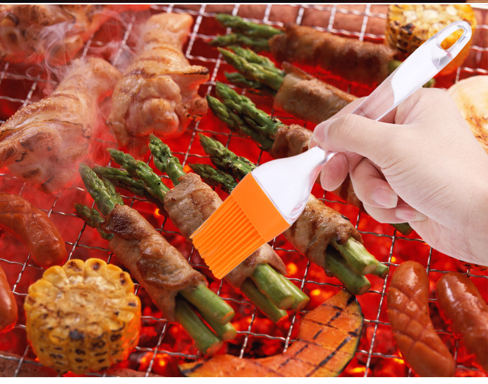 Big Sized Heat Resistant Silicone Pastry Basting Grill Barbecue Oil Brush