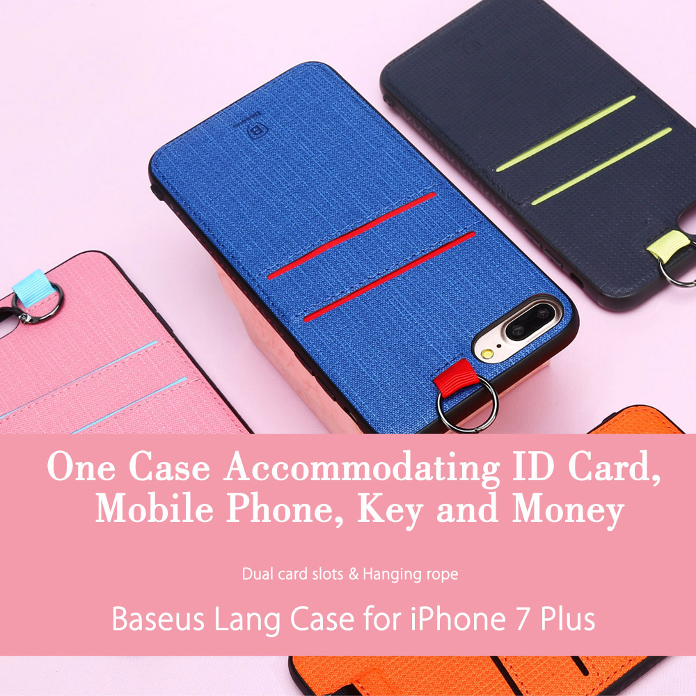 Baseus Lang Series PU Protective Skin Dual Card Slot for iPhone 7 Plus