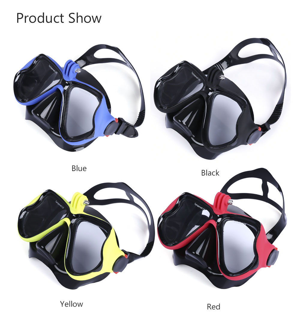 Wide View Diving Scuba Snorkel Goggles Swimming Mask for GoPro
