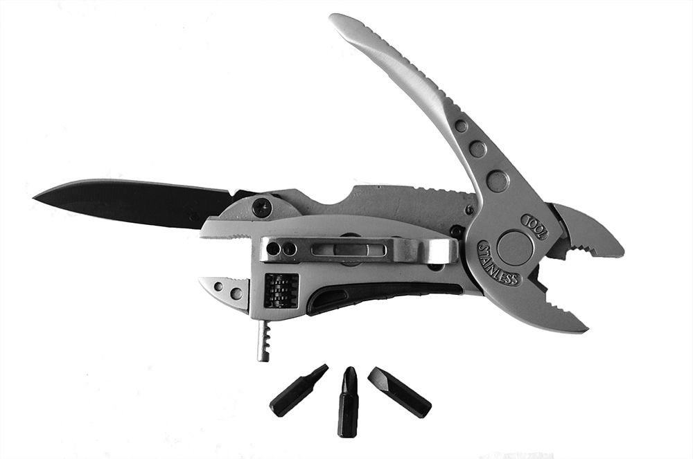 Multi-tool EDC Set Adjustable Wrench Jaw Screwdriver Pliers Knife Survival Tool