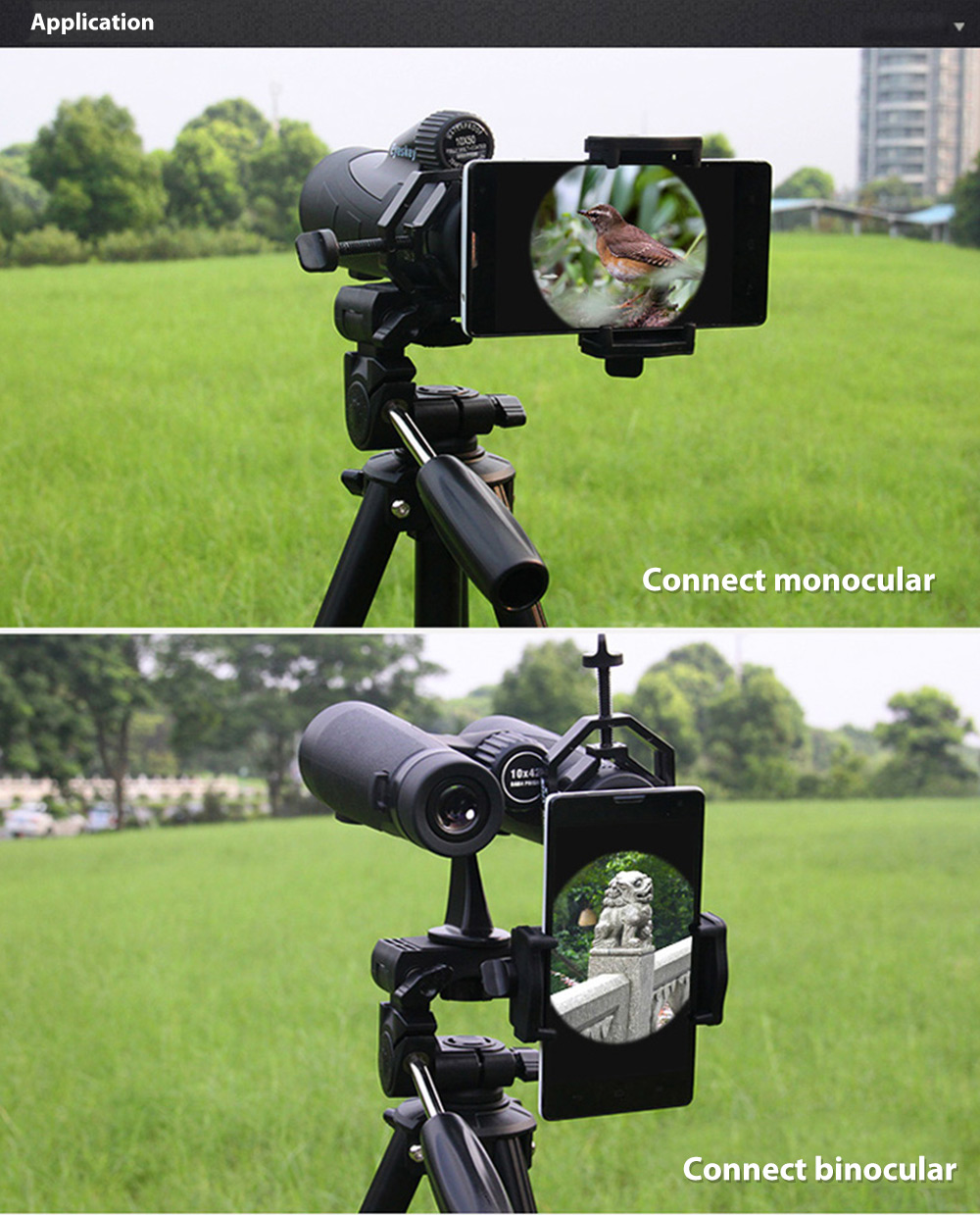 Cell Phone Adapter Mount for Binocular Monocular Spotting Scope