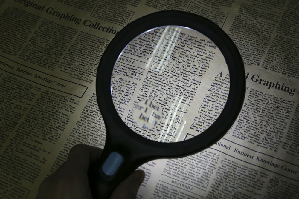 2X 5X Handheld Magnifier with 10 LEDs Magnified Tool