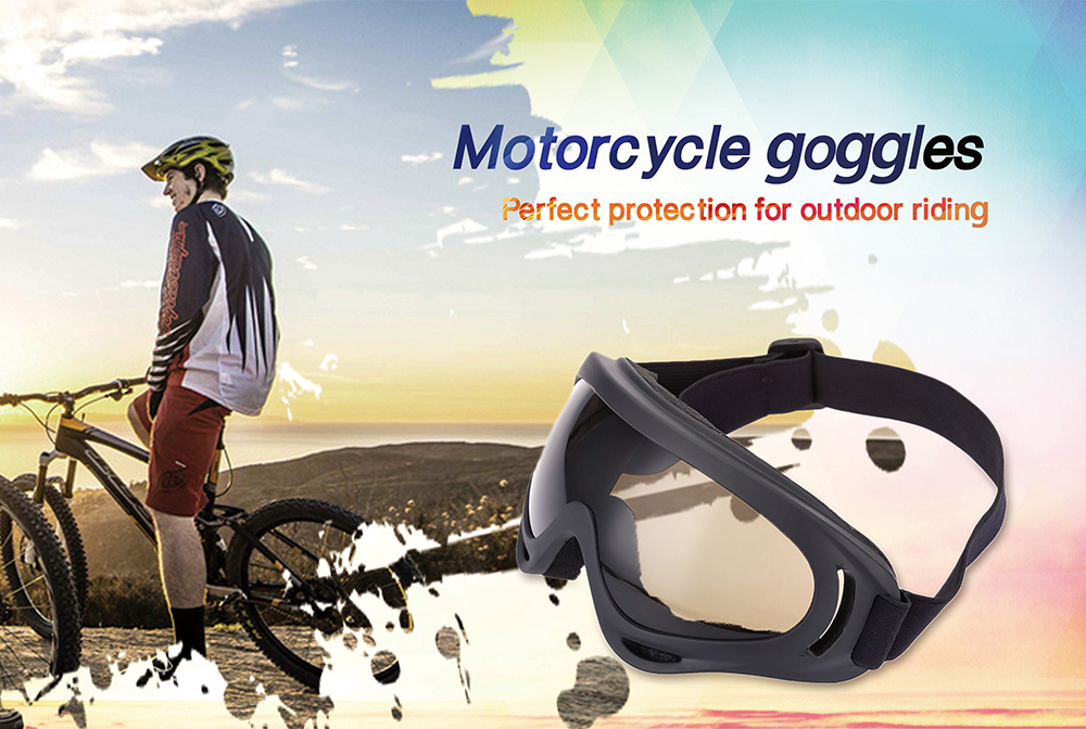 SALETU Motorcycle Goggles Riding Glasses Outdoor Motor Eyewear Cycling Protection