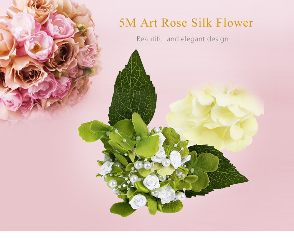 5M Fishing Line Pearls Art Rose Flower Wedding Party Decorative Crafts