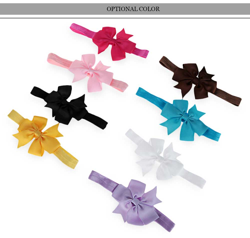 Bowknot Decoration Swallowtail Elastic Design Hair Band for Baby Girls
