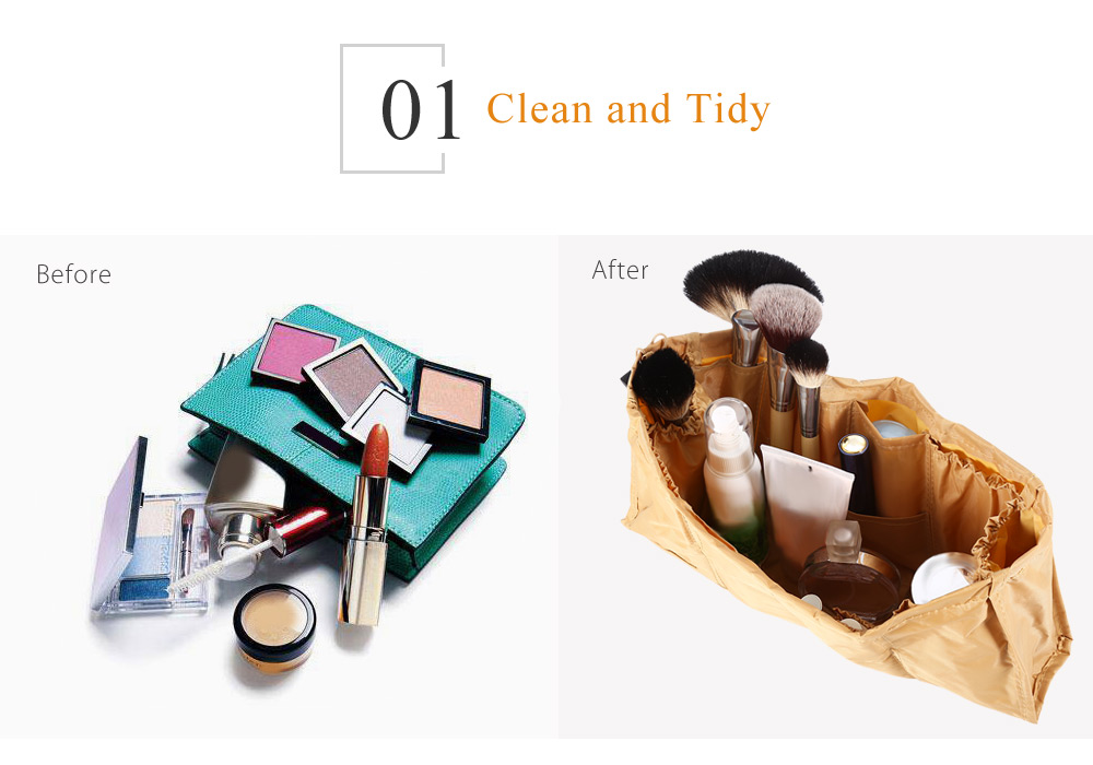 Portable Multifunctional Cosmetic Storage Bag Makeup Container