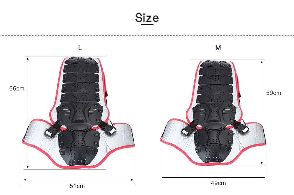 SALETU Motorcycle Racing Riding Skating Protective Body Armor Backpiece Waist Back Spine Protector