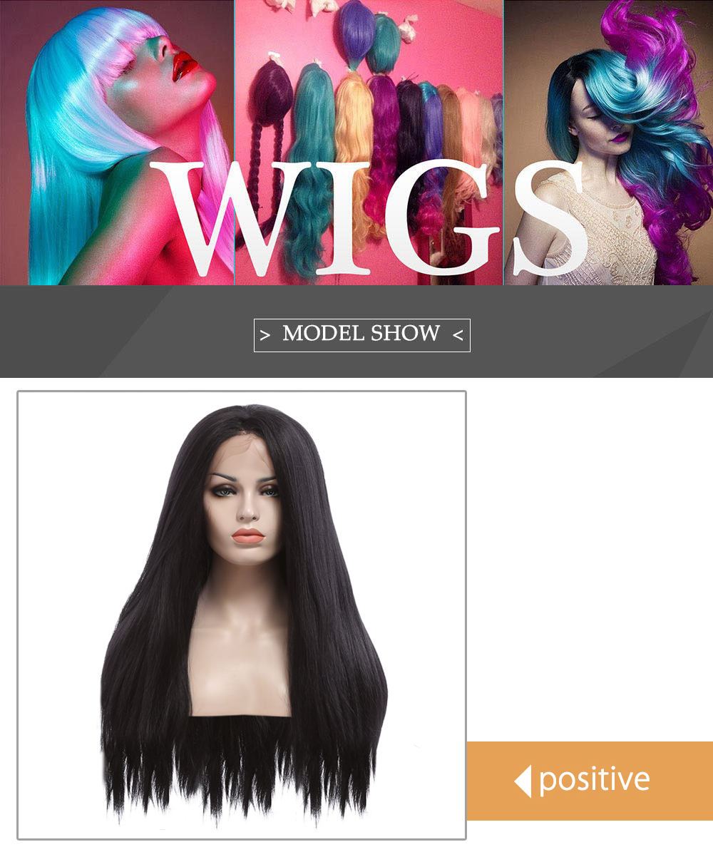 Natural Yaki Straight Synthetic Wig