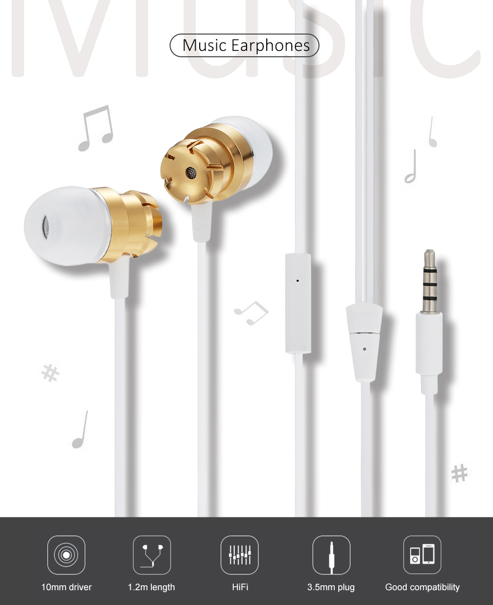 EN30 3.5MM Stereo In-ear Earphones Headphones