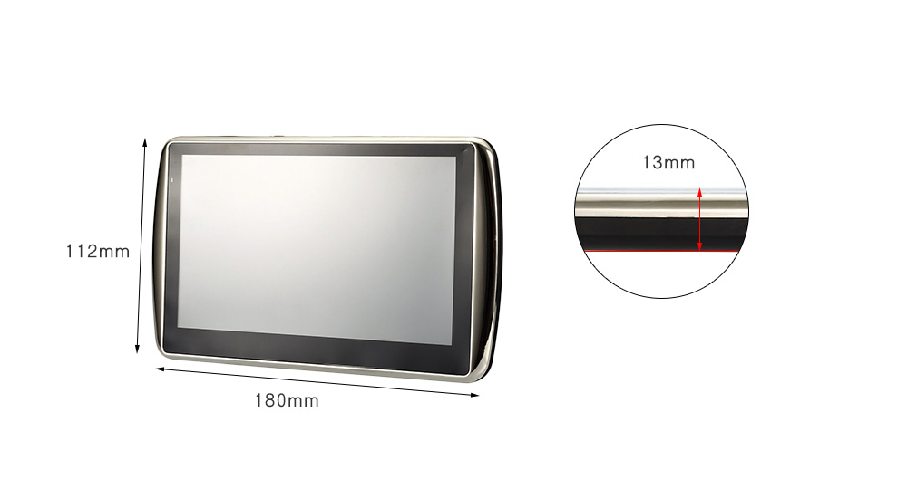 Q1 7 inch Vehicle GPS Navigation TFT Touch Screen Video Music Player