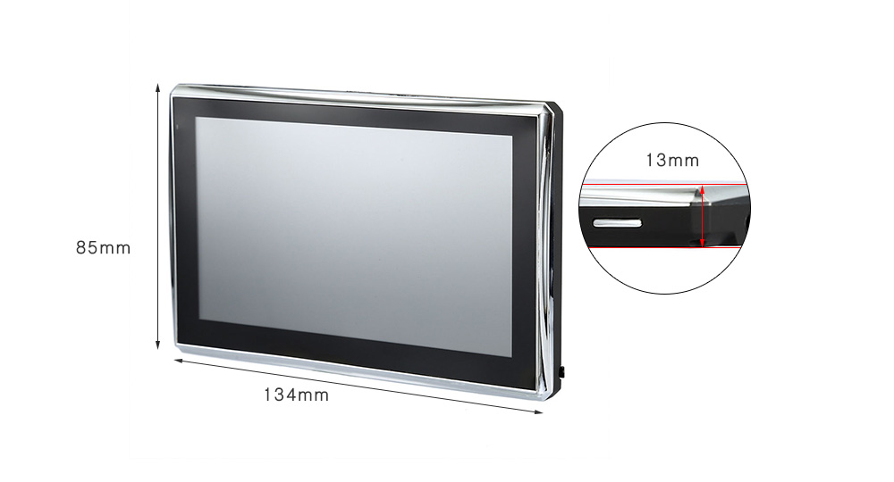 A2 5 inch Vehicle GPS Navigation TFT Touch Screen FM Radio Video Player