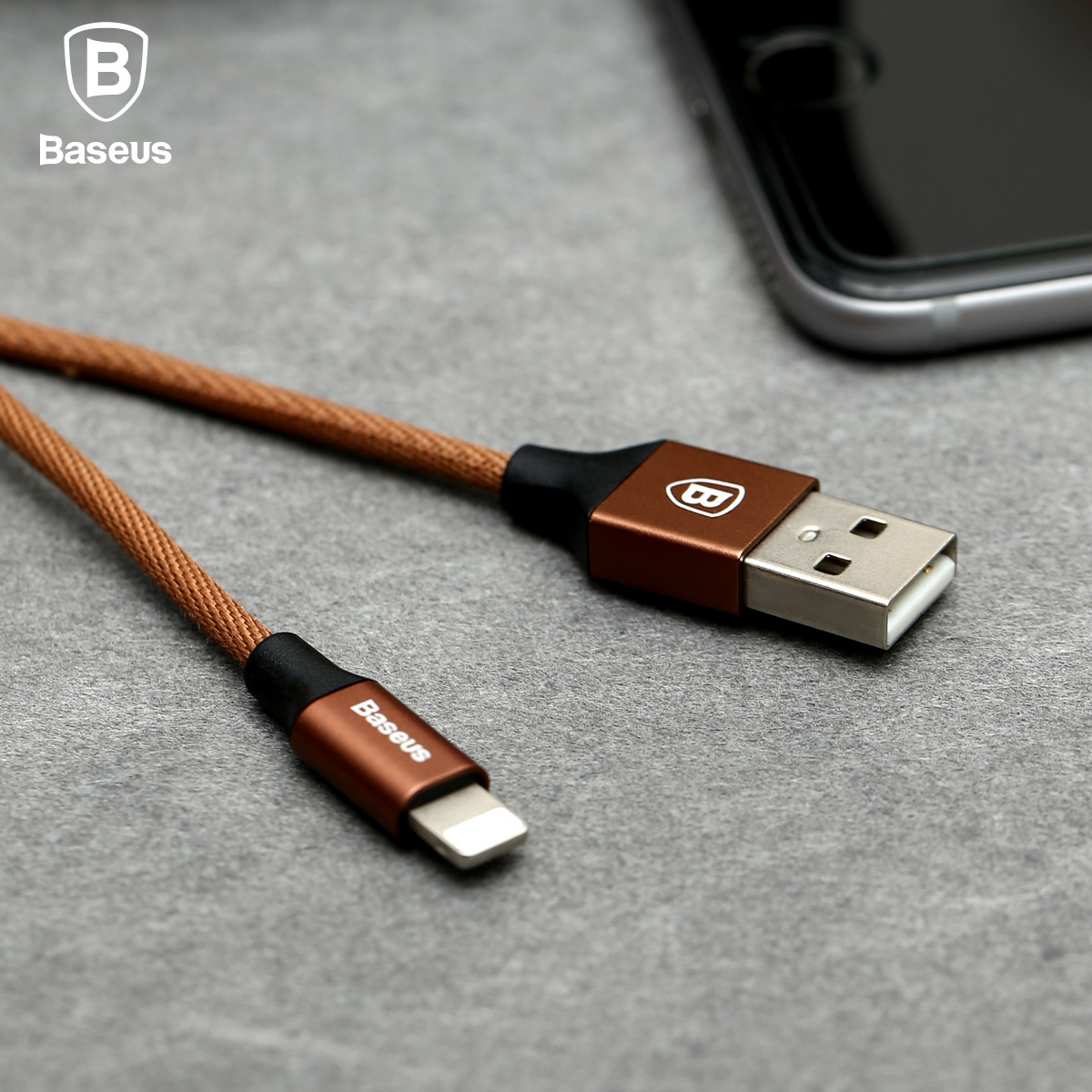 Baseus Yiven Cable 8 Pin USB Data Charging Braided Wire 1.2M