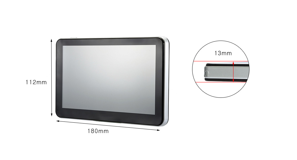 A2 7 inch Vehicle GPS Navigation TFT Touch Screen Video Music Player