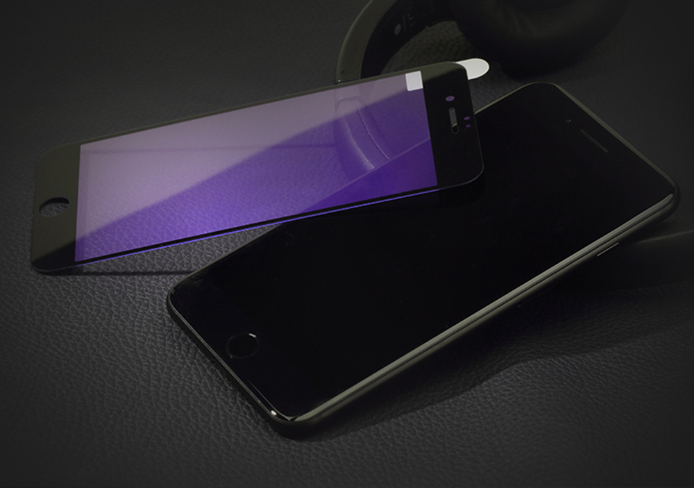 ROCK 2.5D Curved Tempered Glass Shatterproof Anti-blue Full Screen Protective Film for iPhone 7 0.23mm