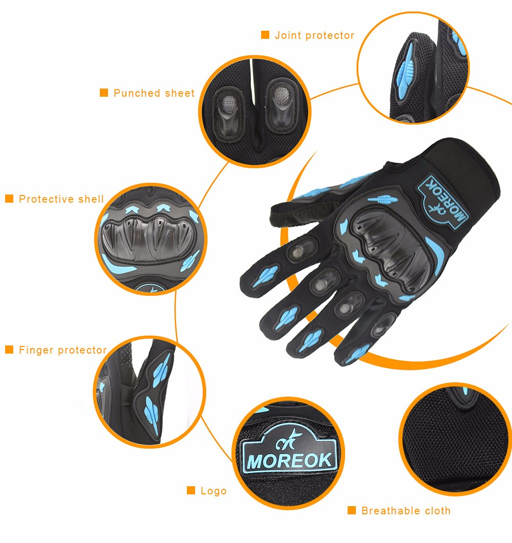 Pair of MOREOK Motorcycle Riding Gloves Full-finger Outdoor Cycling Sport Protector