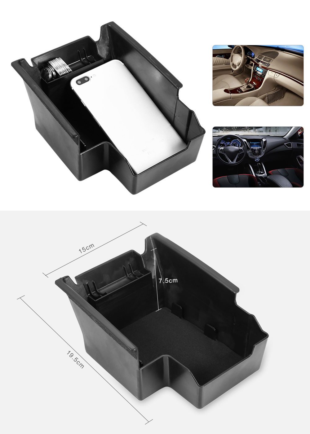 Car Inner Storage Central Box Container for Ford Escape