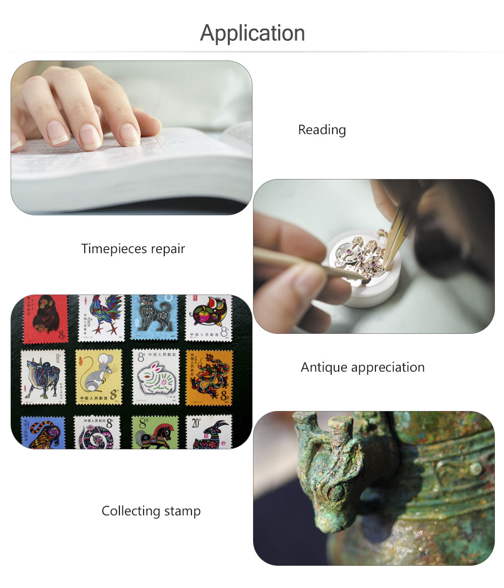 Magnifying Glasses 3.5X 12X Magnifier Loupe with LED Light Alligator Clip Soldering Iron Stand