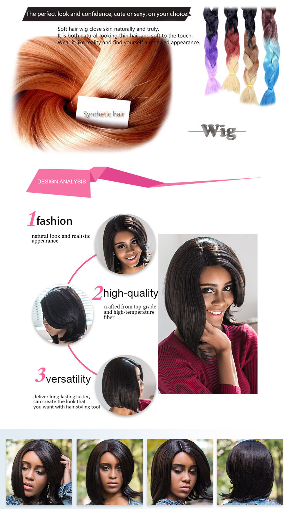 AISIHAIR Stylish Side Parting Short Asymmetrical Slightly Wavy Synthetic Wigs for Women