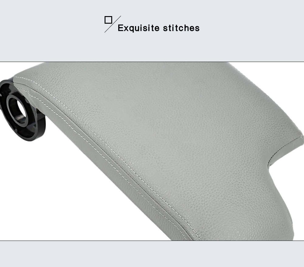 Leather Center Console Lid Armrest Cover for BMW