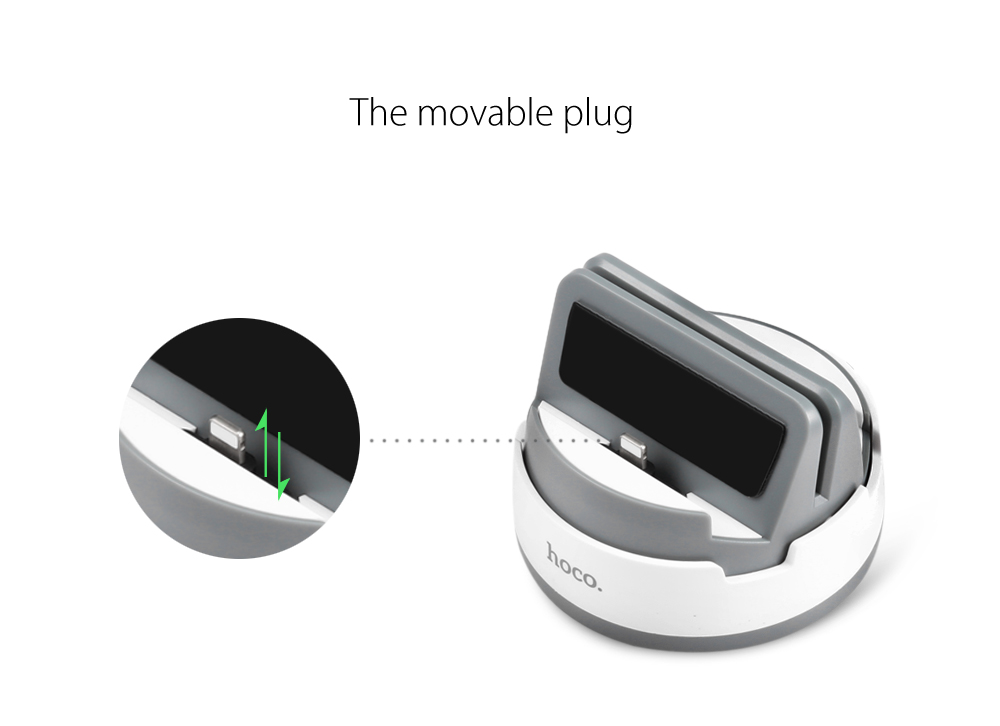 HOCO 360 Degree Rotating 8 Pin Charger Portable Desktop Cradle Charging Sync Dock for iPhone