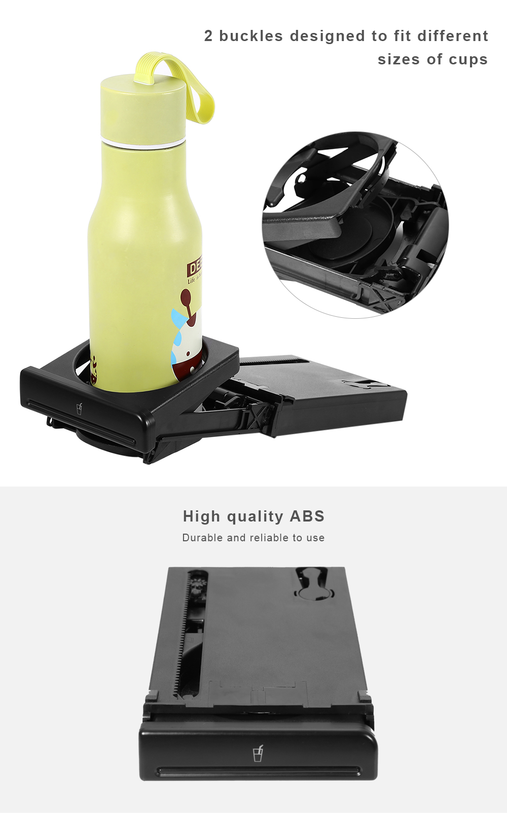 Car Cup Holder Drink Organizer Vehicle Multifunction Storage Box for Audi