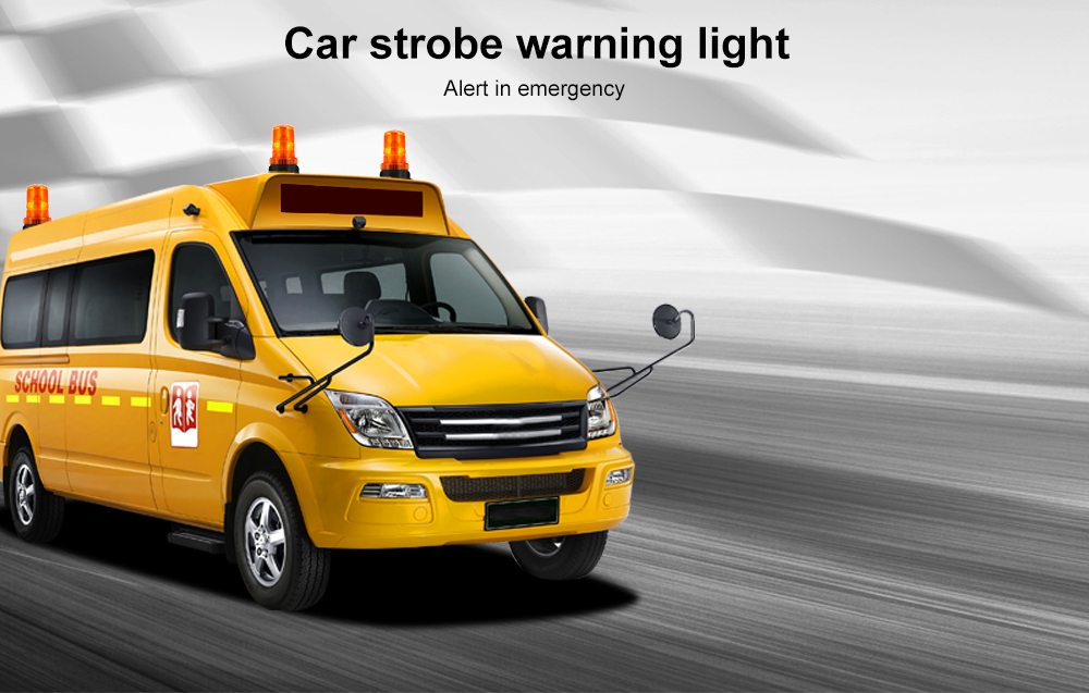 TIROL 12V - 110V Strobe Warning Light Vehicle LED Alert Lamp Single Flash Emergency Alarm