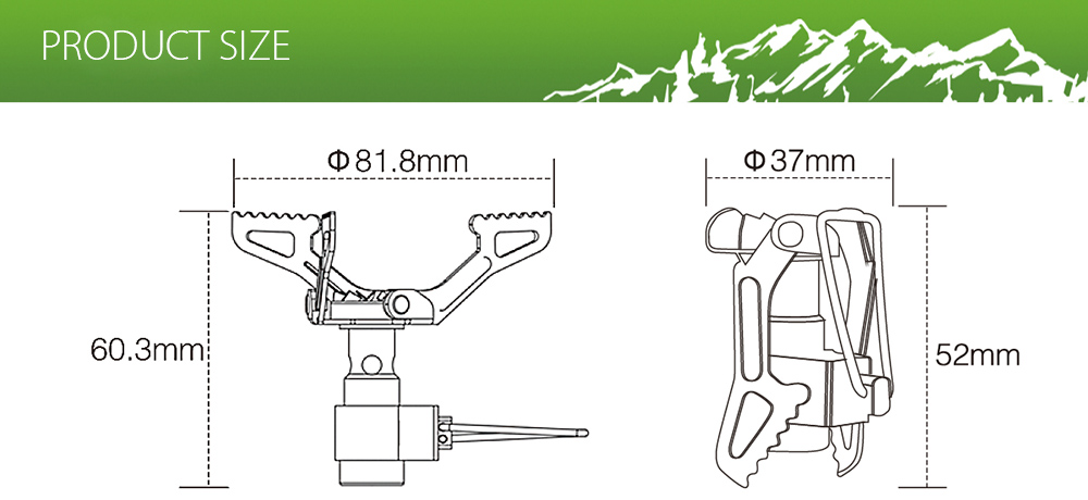 BRS - 3000T Portable Gas Stove Burner Travel Outdoor Tool