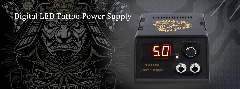 Digital LED Tattoo Power Supply for Foot Pedal Machine