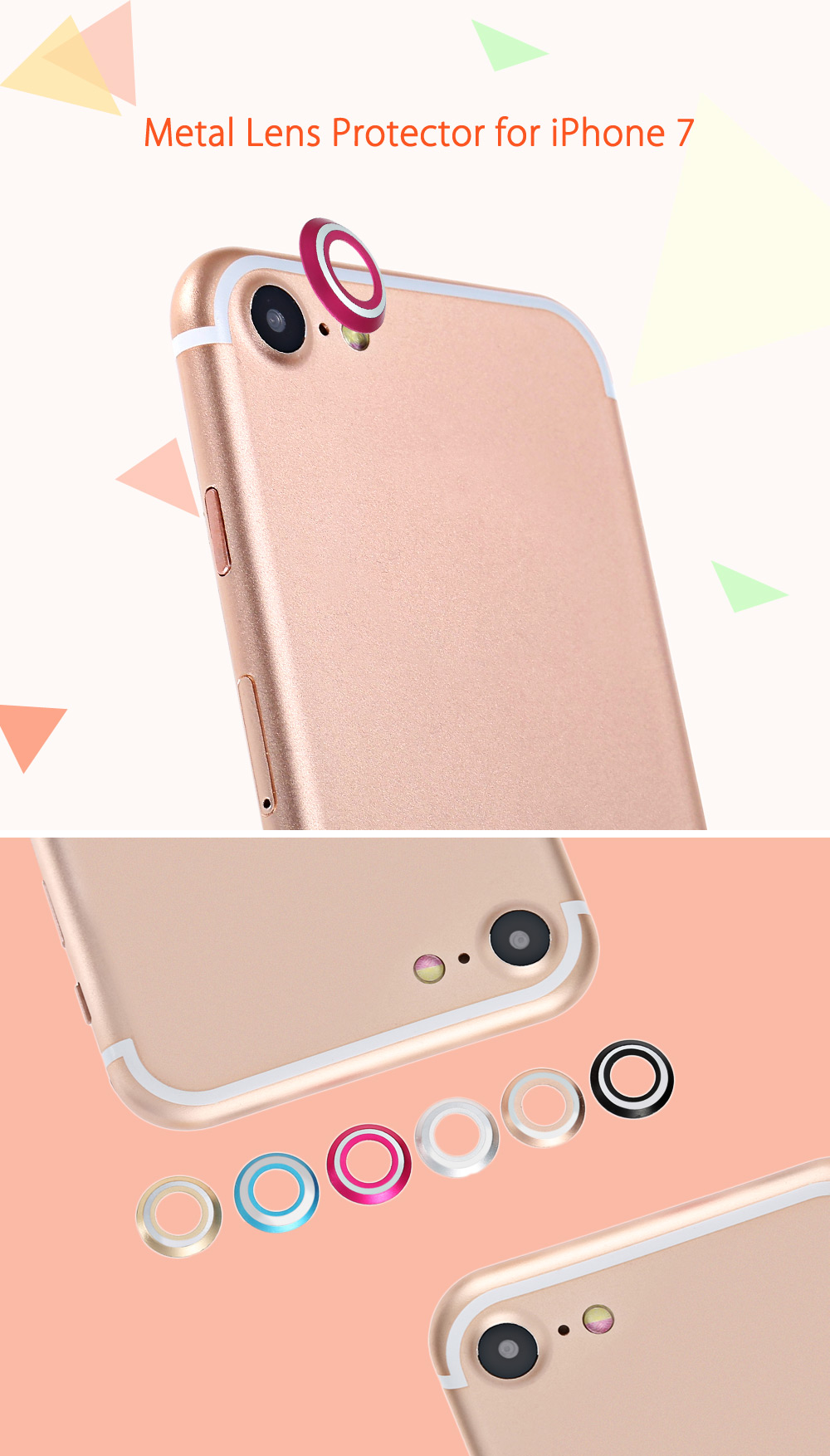 Metal Lens Protector Camera Protection for iPhone 7