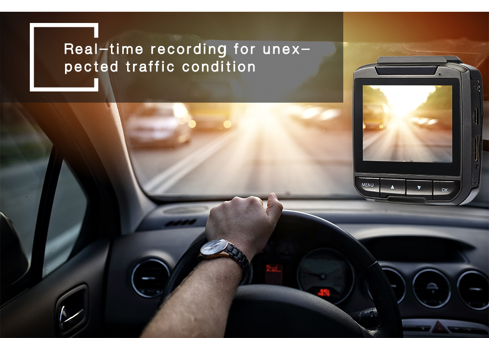 Q1N 2.4 inch Car DVR TFT Screen Automobile Data Recorder Motion Detection Wide-angle Lens Camcorder