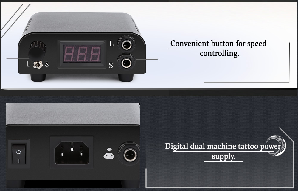 Pro Digital Tattoo Power Supply for Shader Liner Dual Use