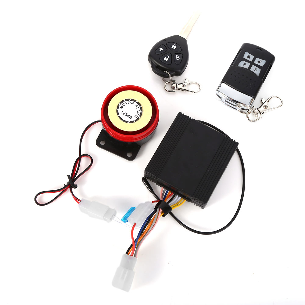 Professional Waterproof Anti-theft Motorcycle Security Remote Driving Alarm System with Key